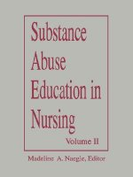 Substance Abuse Education in Nursing