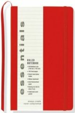 Essentials Small Red Ruled Notebook