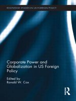 Corporate Power and Globalization in US Foreign Policy