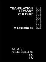 Translation/History/Culture