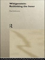 Wittgenstein: Rethinking the Inner