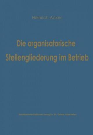Die Organisatorische Stellengliederung im Betrieb