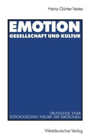 Emotion, Gesellschaft Und Kultur