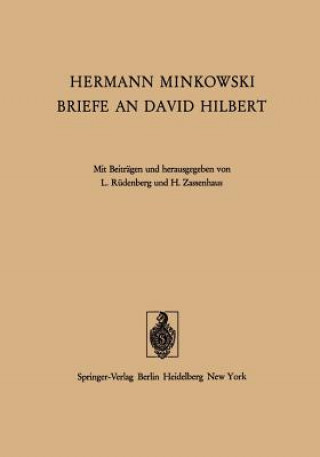 Hermann Minkowski Briefe an David Hilbert