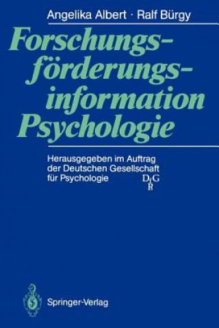 Forschungsforderungsinformation Psychologie