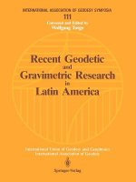 Recent Geodetic and Gravimetric Research in Latin America
