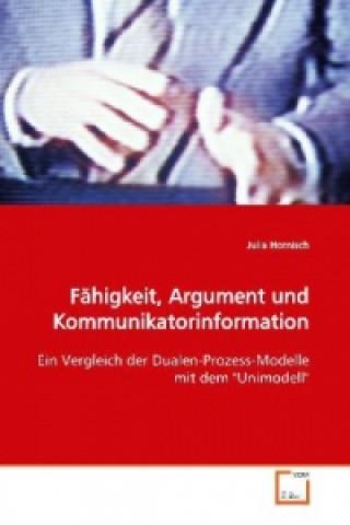 Fähigkeit, Argument und Kommunikatorinformation