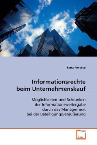 Informationsrechte beim Unternehmenskauf