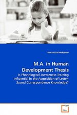 M.A. in Human Development Thesis