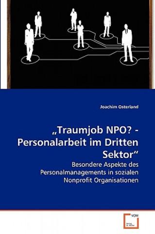 Traumjob Npo? - Personalarbeit Im Dritten Sektor