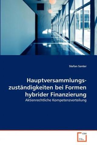 Hauptversammlungszustandigkeiten Bei Formen Hybrider Finanzierung