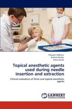 Topical anesthetic agents used during needle insertion and extraction