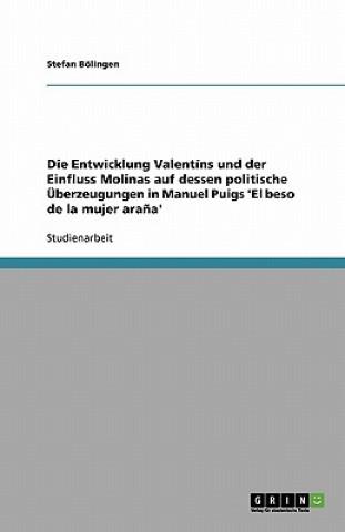 Entwicklung Valentins Und Der Einfluss Molinas Auf Dessen Politische Uberzeugungen in Manuel Puigs el Beso de La Mujer Arana