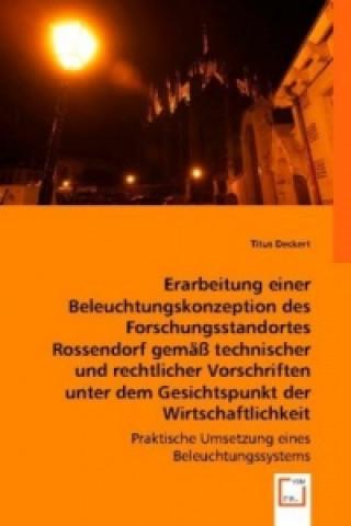 Erarbeitung einer Beleuchtungskonzeption des Forschungsstandortes Rossendorf gemäß technischer und rechtlicher Vorschriften unter dem Gesichtspunkt de