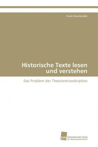 Historische Texte Lesen Und Verstehen