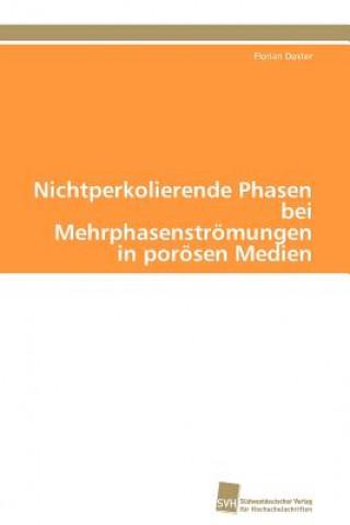 Nichtperkolierende Phasen Bei Mehrphasenstromungen in Porosen Medien