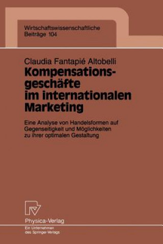 Kompensationsgesch fte Im Internationalen Marketing