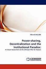 Power-sharing, Decentralization and the Institutional Paradox: