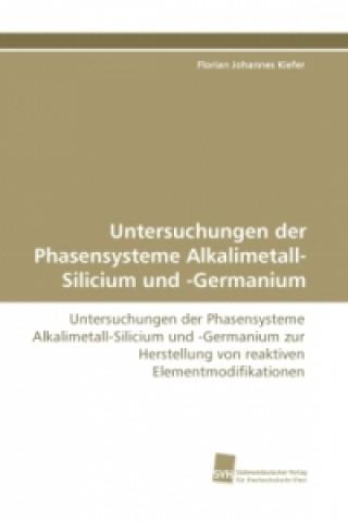 Untersuchungen der Phasensysteme Alkalimetall-Silicium und -Germanium