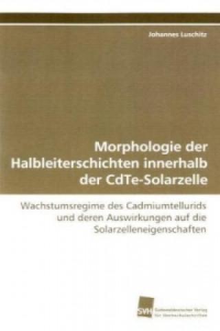 Morphologie der Halbleiterschichten innerhalb der CdTe-Solarzelle