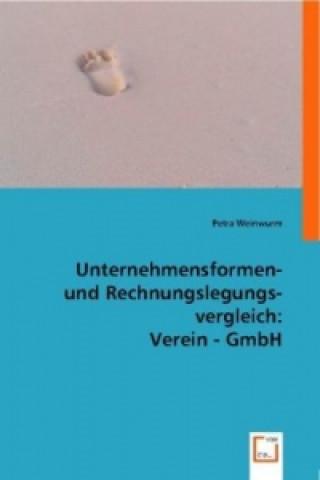 Unternehmensformen- und Rechnungslegungsvergleich Verein - GmbH