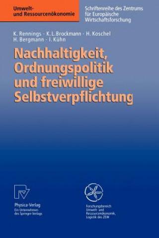 Nachhaltigkeit, Ordnungspolitik und Freiwillige Selbstverpflichtung