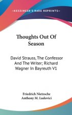 THOUGHTS OUT OF SEASON: DAVID STRAUSS, T