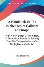 A HANDBOOK TO THE PUBLIC PICTURE GALLERI