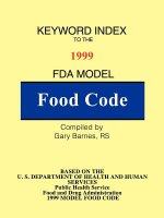 Keyword Index: 1999 FDA Model Food Code