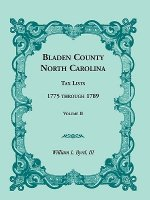 Bladen County, North Carolina, Tax Lists