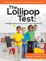 Developmental and Interpretive Manual for the Lollipop Test
