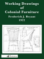 Working Drawings of Colonial Furniture