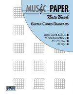 Music Paper Notebook - Guitar Chord Diagrams