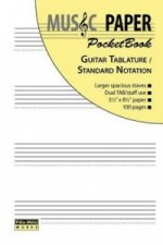 Music Paper Pocketbook - Guitar Tablature / Standard Notation
