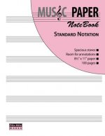 Music Paper Notebook - Standard Notation