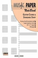 Music Paper Notebook - Guitar Chord & Standard Staff