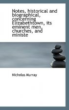 Notes, Historical and Biographical, Concerning Elizabethtown, Its Eminent Men, Churches, and Ministe
