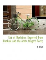 List of Medicines Exported from Hankow and the other Yangtze Ports;