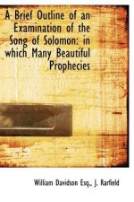 A Brief Outline of an Examination of the Song of Solomon: in which Many Beautiful Prophecies