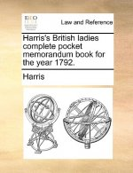 Harris's British ladies complete pocket memorandum book for the year 1792.