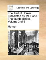 Iliad of Homer. Translated by Mr. Pope. the Fourth Edition. Volume 3 of 6