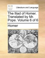Iliad of Homer. Translated by Mr. Pope. Volume 6 of 6