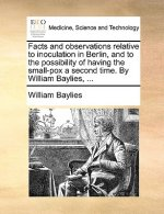 Facts and observations relative to inoculation in Berlin, and to the possibility of having the small-pox a second time. By William Baylies, ...