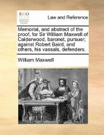 Memorial, and abstract of the proof, for Sir William Maxwell of Calderwood, baronet, pursuer; against Robert Baird, and others, his vassals, defenders