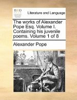 Works of Alexander Pope Esq. Volume I. Containing His Juvenile Poems. Volume 1 of 8