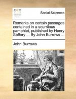 Remarks on certain passages contained in a scurrilous pamphlet, published by Henry Saffory ... By John Burrows ...
