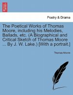 Poetical Works of Thomas Moore, Including His Melodies, Ballads, Etc. (a Biographical and Critical Sketch of Thomas Moore ... by J. W. Lake.) [With a