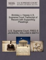 Brinkley V. Hassig U.S. Supreme Court Transcript of Record with Supporting Pleadings