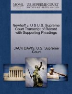 Newhoff V. U S U.S. Supreme Court Transcript of Record with Supporting Pleadings