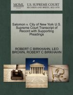Salomon V. City of New York U.S. Supreme Court Transcript of Record with Supporting Pleadings